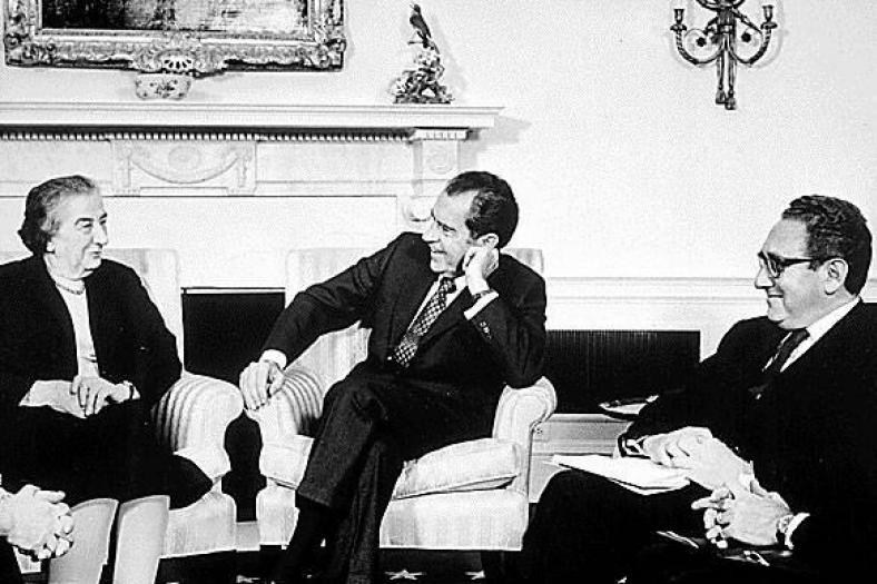 By The Central Intelligence Agency (Meir, Nixon and Kissinger) [Public domain], via Wikimedia Commons