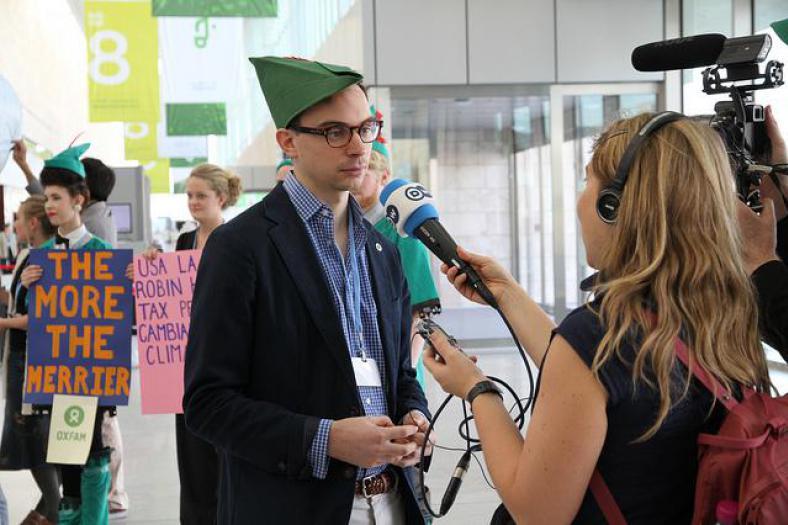 Tim Gore van Oxfam vindt dat Europa beter kan op vlak van financiering. Ze doen al hun best, maar nog niet genoeg. (CC BY-NC-ND 2.0)