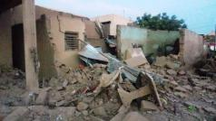 Ravage na de ontploffing in Larlé