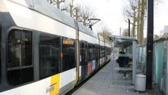 De ingekorte lijn 4 in Gent