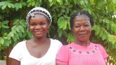 Salimata en Diane, de kern van mijn keukenploeg