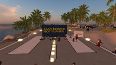 Beeld van de actie op Second Life