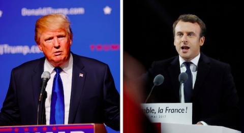 Foto Trump: CC BY-SA 2.0. Foto Macron: CC BY-NC 2.0.