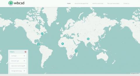 Screenshot http://microgridhub.wbcsd.org/