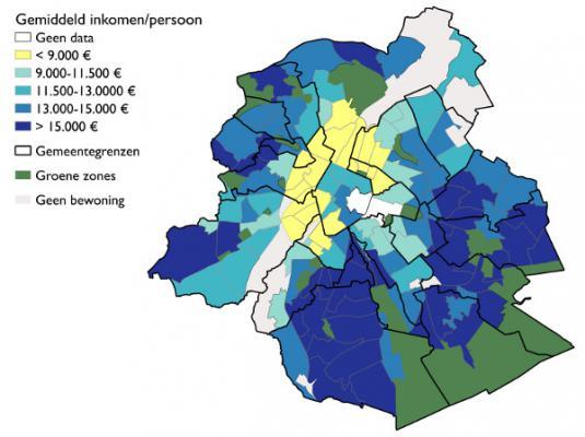 Wijkmonitoring (BISA) Brussels UrbIS®© (2009)
