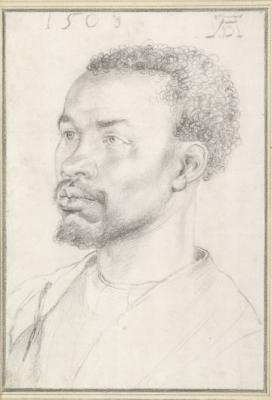 Schets van een anonieme Afrikaan in Granada door Dürer (1508)