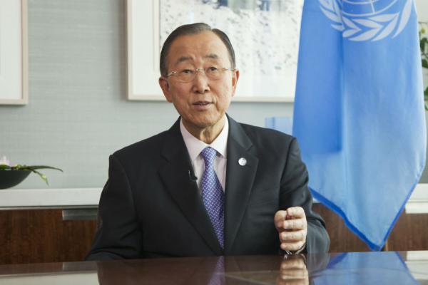 VN Secretaris-Generaal Ban Ki-moon: UNphoto-Rick Bajornas