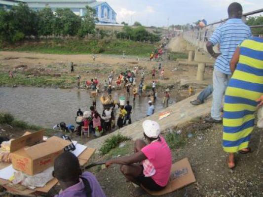 Een dagdagelijks tafereel aan de Haïtiaans-Dominicaanse grens