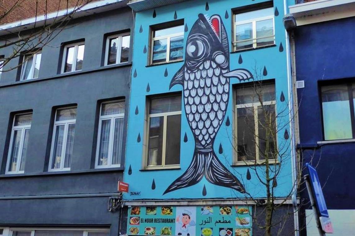 b1fd22ec036 Antwerps stadsbestuur verbiedt kleurige vis op gevel - MO*