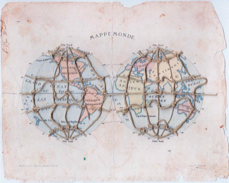 Plastisch werk van Hugo De Smaele uit de reeks Mappe Monde.