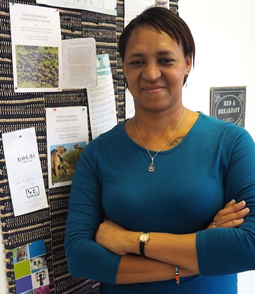 Joy Daniels, manager Fair Trade-gecertifieerd in Zuid-Afrika